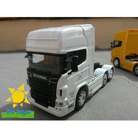 Caminhão Scania R730 Trucada Branca 1:32 Novo Leilão
