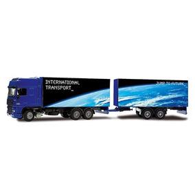 Miniatura Caminhão Daf Xf Carreta Dupla 1:50 Joal
