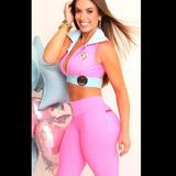 Conjunto Legging + Top Fitness Suplex Academia Clarabella