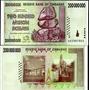 Billete Zimbabwe 200 Millones De Dolares !!