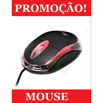 Mouse Óptico Usb Exbom Knup P/ Notebook Pc Windows Color Led