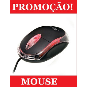 Mouse Óptico Usb Exbom Knup P/ Notebook Pc Windows Color Led