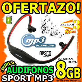 Audifonos Mp3 Sport Recargable Soporta Hasta 8gb Microsd Wow