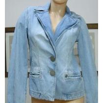 Ossira Saco Blazer Jeans Semielastizado Small Azul (ana.mar)