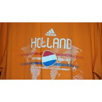 Playera Adidas De Holanda Mundial 2010 Talla L Envio Gratis