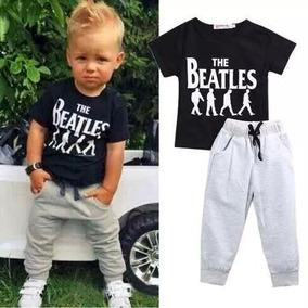 Roupa Infantil Menino Beatles Conjunto Calça E Camiseta