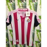 Jersey Chivas D Guadalajara Puma 100%original Mujer Rosa