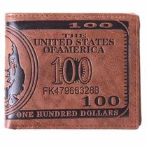 Billetera Cartera De Cuero De Dólar Grabado Envio Gratis