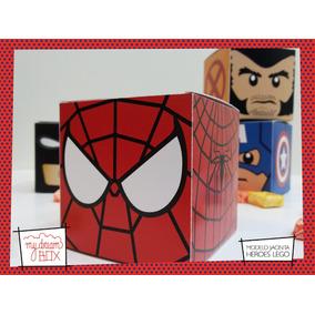 Souvenir Evento Cumple Caja J1 Lego Spiderman Hombre Araña