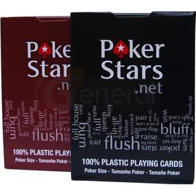Baralho Poker Stars 100% Plástico (1 Unidade C/52 Cartas)