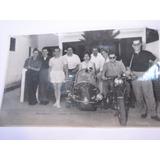 Antigua Foto Moto Con Sidecard