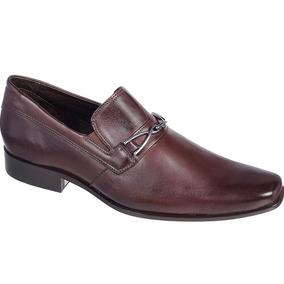 Sapato Silverado Couro De Carneiro Cor Café - 100% Couro