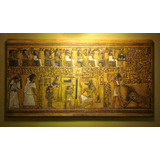 Cuadro En Relieve Egipcio Libro De Los Muertos- Papiro Ani
