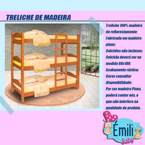 Treliche De Madeira - Resistente - 100% Madeira - Triliche