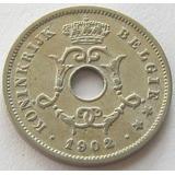 Belgica 10 Centimes 1902 Km # 49 Moneda Escasa Xf-
