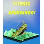 Papercraft Lendario Navio Titanic Afundando Escala 1:700