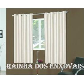 Cortina Sala /quarto Black-out 2,00 X 1,60 Em Pvc + Kitvarão