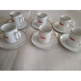 6 Lindas Xícarasc/pires P/cafézinho Nsk Porcelana Schmdt