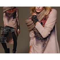 Vestido Curto Mullet Em Lã