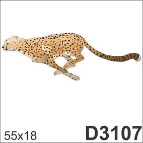 Adesivo D3107 Leopardo Onça Pintada Animal Decorativo Parede