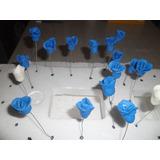 50 Flores Pimpollos Porcelana Fria Souvenir Cumpleaños Quinc