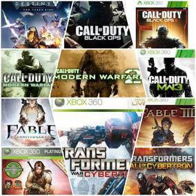 Midia Digital Pacote Com Varios Jogos Originais Do Xbox 360.