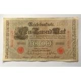 Billete Alemania 1000 Mark 1910 Cuidad Berlin