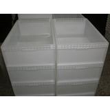 Cajon Plastico Cerrado Apilable Reforzado Carnicero Blanco