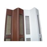 Puerta Plegadiza De Pvc Vidriada 065x200 Medio Vidrio