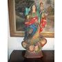 Sergioschw) Imagem Santa Nossa Senhora Rosário Madeir 90 Cm