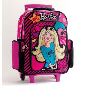 Mochila Barbie Grande Con Carro 16790