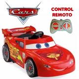 Coche Auto A Batería Rayo Mcqueen Cars 30kg /control Remoto