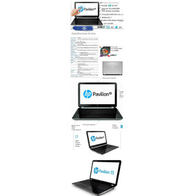 Notebook Hp/ Touch 15,5