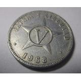 Antigua Moneda Cuba 5 Centavos 1968