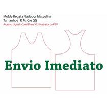 Molde Regata Nadador - Arquivo Digital .il .cdr .pdf