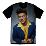 Camiseta Personalizada Unissex Bruno Mars Jaqueta Óculos