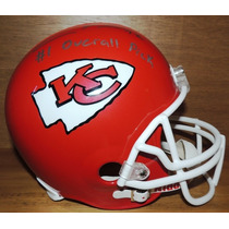 Casco Americano Ridell Jefes Kansas City Firmado Eric Fisher