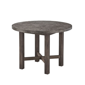 Home Styles Concrete Chic Round Dining Mesa