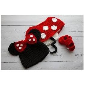 Disfraz De Mimi Minnie Mouse A Crochet Tejido.