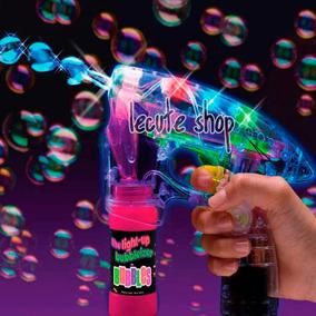 Pistola De Burbujas Luminosa Utiliza Pilas Regalo Fiesta