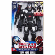 Brinquedo Titan Hero Marvels War Machine Eletronico B6179
