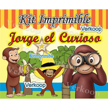 Kit Imprimible Jorge El Curioso + Candy Bar Snoopy