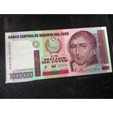 Peru Billete 1 Un Millon De Intis 1990 Totalmente Nueva !!!!