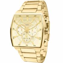 Relógio Technos Legacy Masculino Caixa Grande Gold Js25al/4x
