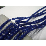 Collar De Zafiros De Sri Lanka 4mm Sin Broche