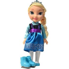 Boneca Frozen Elsa Com Patins 1036