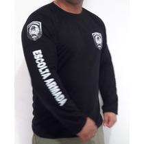 Camisa Escolta Armada Manga Longa Vigilante Passeio