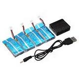 4 Baterías Para Syma X5c/x5c-1/x5sc+cargador Y Envio Gratis