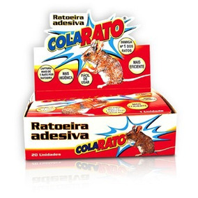 Ratoeira Adesiva Cola Rato - 20 Unidades