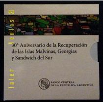 Blister Moneda $2 30 Aniversario Malvinas -palermo-